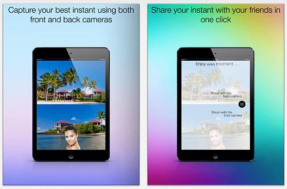 Einfache Fotoanwendung ohne wirkliche Highlights: Flipside Camera auf dem iPad.