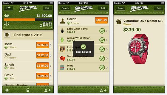Giftshopper ist eine Geschenkeverwaltung für iPhone und i'Pod Touch.