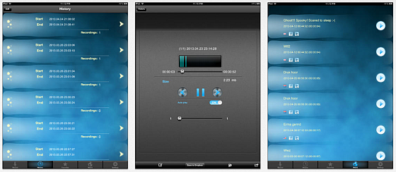 Dream Talk Recorder Pro Screens