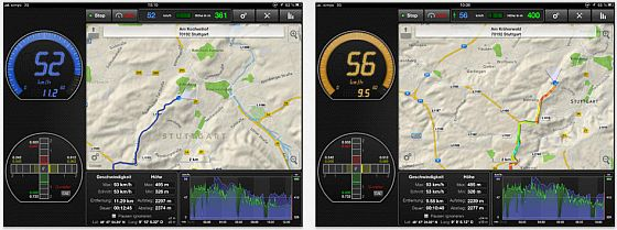 Mit GPSSpeed und einem iPad oder iPhone kannst Du im Auto, auf dem Fahrrad, im Zug oder sogar auf Boot oder Schiff Deine Geschwindigkeit messen und die Route verfolgen.