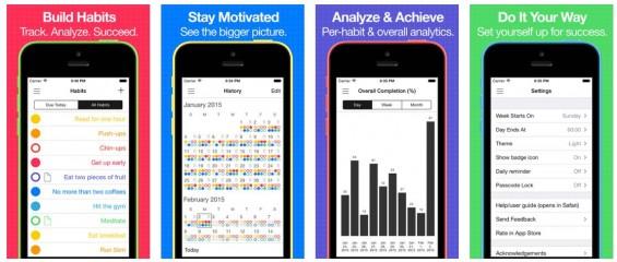 Mit Daily Goals bekommst ein gutes Überwachungsinstrument für Deine guten Vorsätze und täglichen Erledigungen.