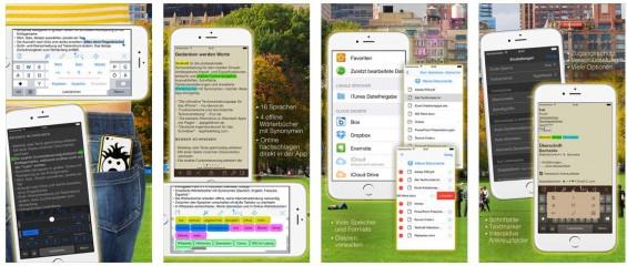Super durchdachte Textverarbeitung für die Nutzung auf dem iPhone. Eine gute Alternative zu Word oder Pages.