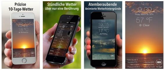 Die App 10 Tage Wetter besticht mit ihren schönen Hintergrund-wetteranimationen und liefert die Vorhersage für die von Dir gewünschten Orte gleich für die nächsten 10 Tage.
