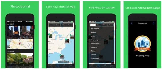 Foto Karte sortiert Deine Bilder nach Datum oder Aufnahmeort und zeigt die Bilder auf der Weltkarte (Google Maps) an.