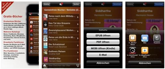 Zugriff auf zwei Millionen kostenlose eBooks bietet die App eBook Search Pro - ohne Werbung oder In-App Käufe.